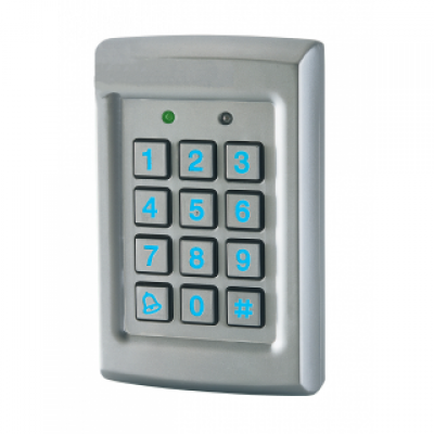 Access control digicode for trolleys and gear
