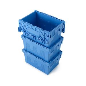 BD-BOX dispensing tray for perfect stacking of bins when transporting goods