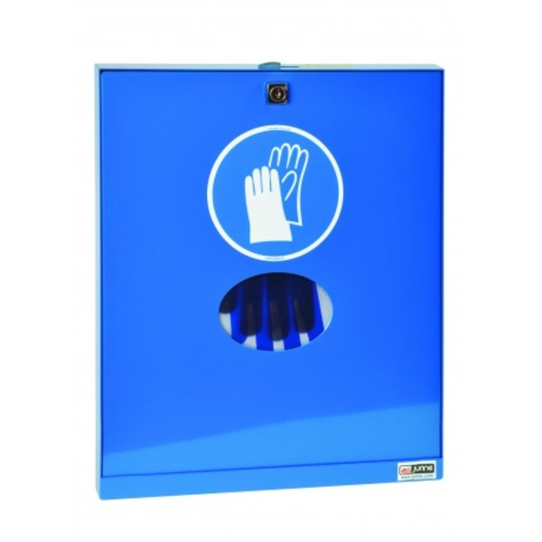 Lacquered steel glove dispenser for gas stations
